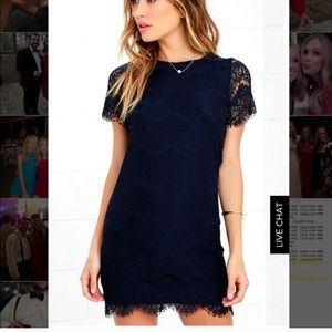 Navy Lace Lulus Dress